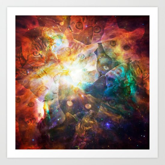 The Cat Galaxy Art Print