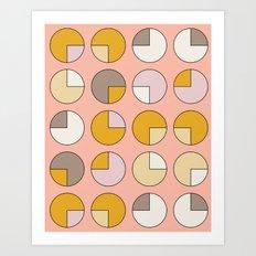 Pie Pink Art Print