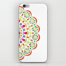 Floral Mandala Bright Watercolor iPhone Skin