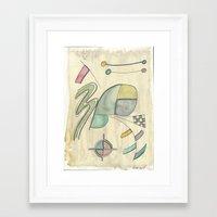 kandinsky Framed Art Prints featuring Kandinsky Re-imagined ii (2014) by Eli Dorman