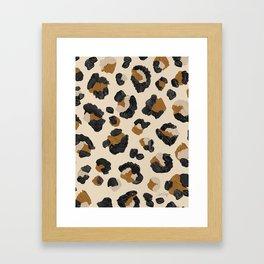 Leopard Print – Neutral Gold Light Palette Framed Art Print