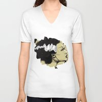 bride V-neck T-shirts featuring The Bride by Jaleesa McLean