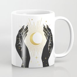 Gold La Lune In Hands Coffee Mug