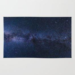 A galaxy of stars in the night sky Rug