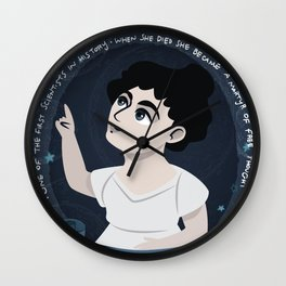Women in science | Hypatia, mathematician, astronomer, philosopher Wall Clock