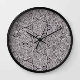 Grey Lace Coin Vintage Inspired Design Wall Clock