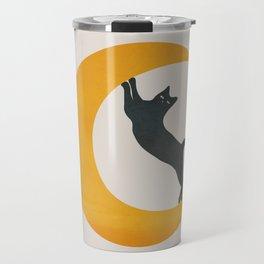 Moon and Cat Travel Mug