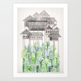 Jungle Stilts Art Print