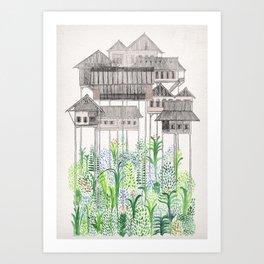 Jungle Stilts Art Print