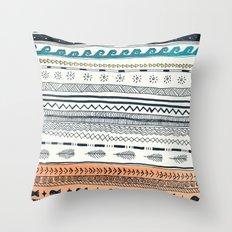 Beach Aztec Throw Pillow