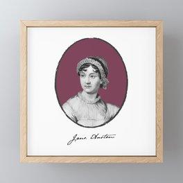 Authors - Jane Austen Framed Mini Art Print