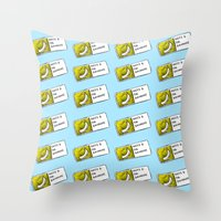 cyrilliart Throw Pillows featuring Bananas Pattern by Cyrilliart