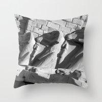 guardians Throw Pillows featuring Loyal Guardians by Brian Raggatt