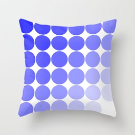 Indigo Circle Color Chart Throw Pillow