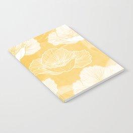 Poppy bloom - yellow Notebook