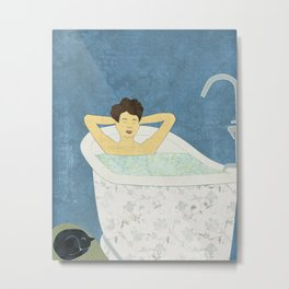 Bathtub Scene Metal Print