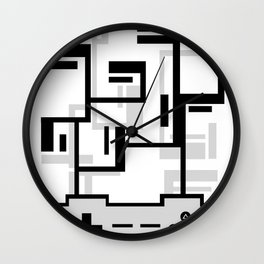 8-BIT JOYSTICK (GREY) Wall Clock