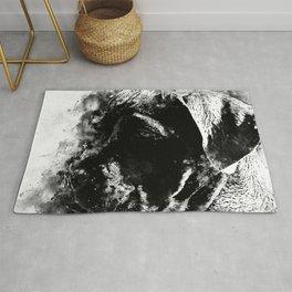 cane corso italian mastiff dog wsbw Rug