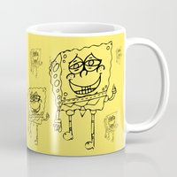 spongebob Mugs featuring Spongebob by Autumn Dawn