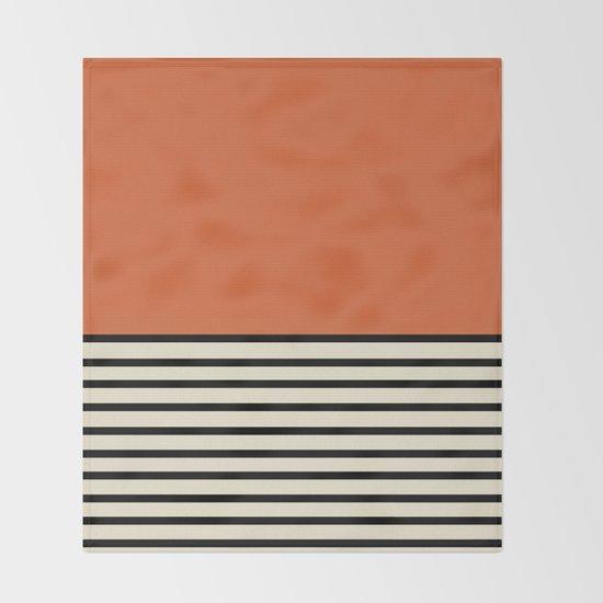 Sunrise / Sunset - Orange & Black by midcenturymodern