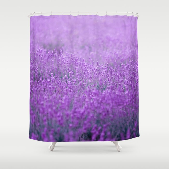 Rain on Lavender Shower Curtain by pzychonoir | Society6