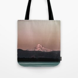 Pastel Peak - Mt. Hood over the Columbia Tote Bag