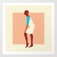Fashion Dance 4 Art Print