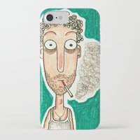 smoking iPhone & iPod Cases featuring SMOKING by t i t i l l a