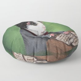 Franz Schubert the Guinea Pig Floor Pillow