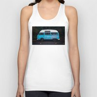 vw bus Tank Tops featuring Vintage VW Bus Rusted  by Limitless Design