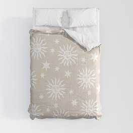 Mid Century Modern Sun and Star Pattern 230 Comforters