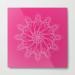 Divine Mothers of Light - Pink Metal Print