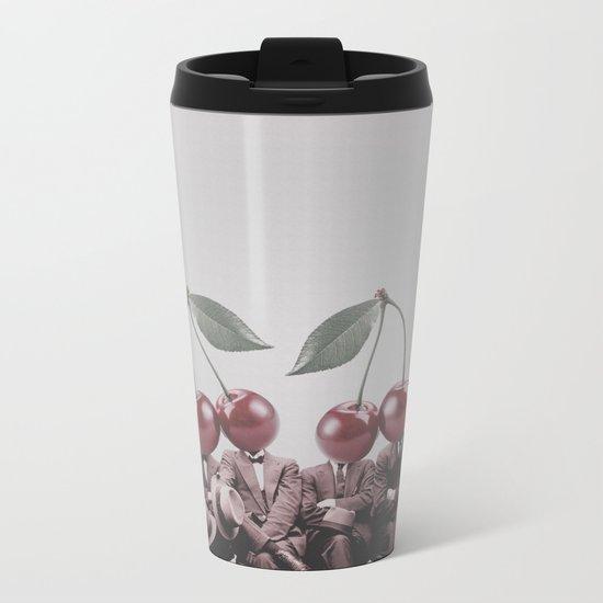 Cherry Mugshot Metal Travel Mug