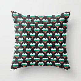 Bulgaria Love flagMotif Repeat Pattern design background  Throw Pillow