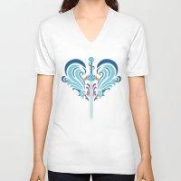 selena V-neck T-shirts featuring Selena by B-XL