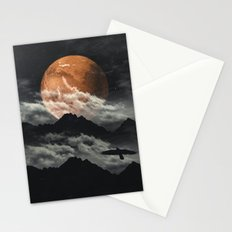 Spaces III - Mars above mountains Stationery Cards