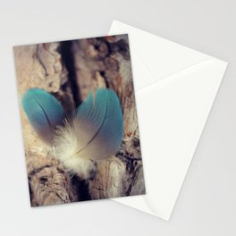 Feather blues Stationery Cards