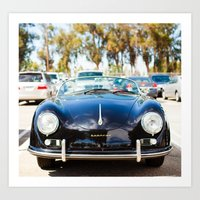 porsche Art Prints featuring Porsche by Monika Siauw