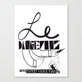 Le Danger Canvas Print