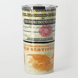 1882 Lincoln US $500 Dollar Bill Gold Certificate Wall Art Travel Mug