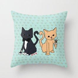 Rich Cats Throw Pillow