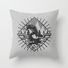 Monster Oil Throw Pillow