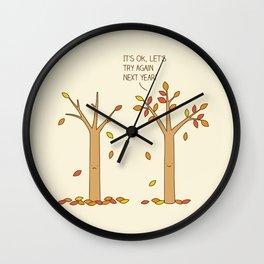 encouraging tree Wall Clock