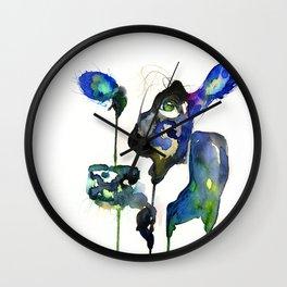 BLUE COW Wall Clock