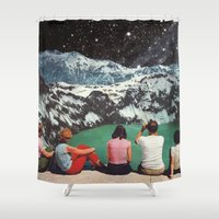 beth hoeckel Shower Curtains featuring GLACIAL by Beth Hoeckel