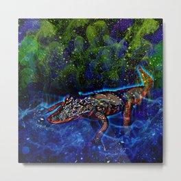 Galaxy Gator Metal Print