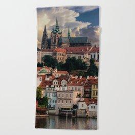 Sunny day in Prague Beach Towel