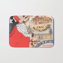 """Vintage poster """"SPA Ferme de la Frahinfaz"""" Bath Mat"""