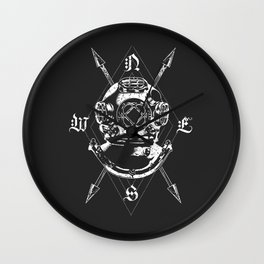 20,000 Leagues (B&W) Wall Clock