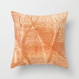 Peach juice Throw Pillow
